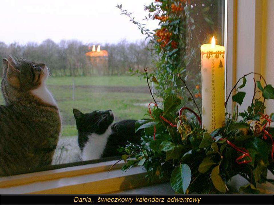Dania, świeczkowy kalendarz adwentowy