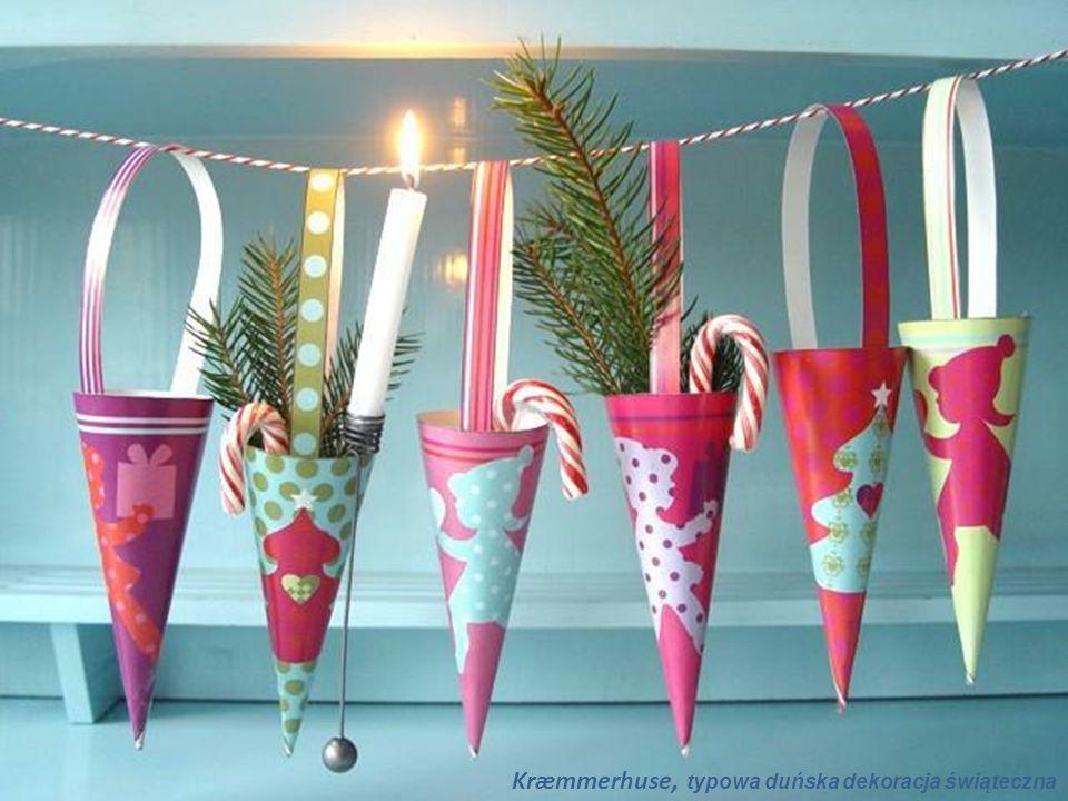 Kræmmerhuse, typowa duńska dekoracja świąteczna