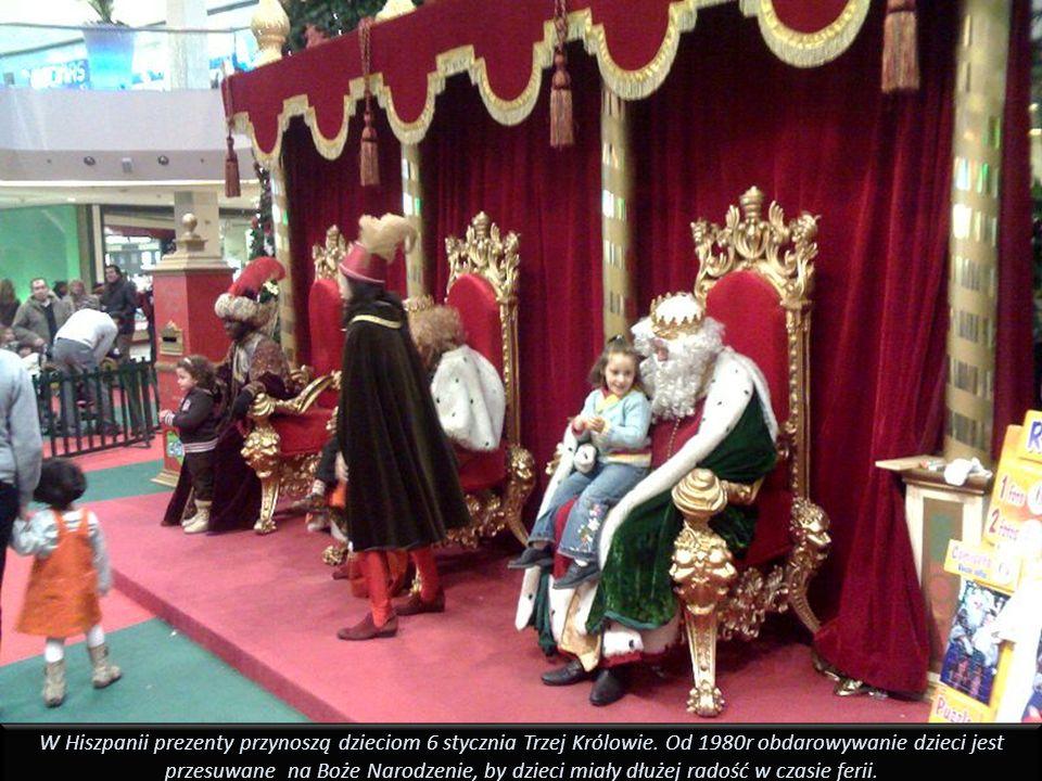 W Hiszpanii prezenty przynoszą dzieciom 6 stycznia Trzej Królowie