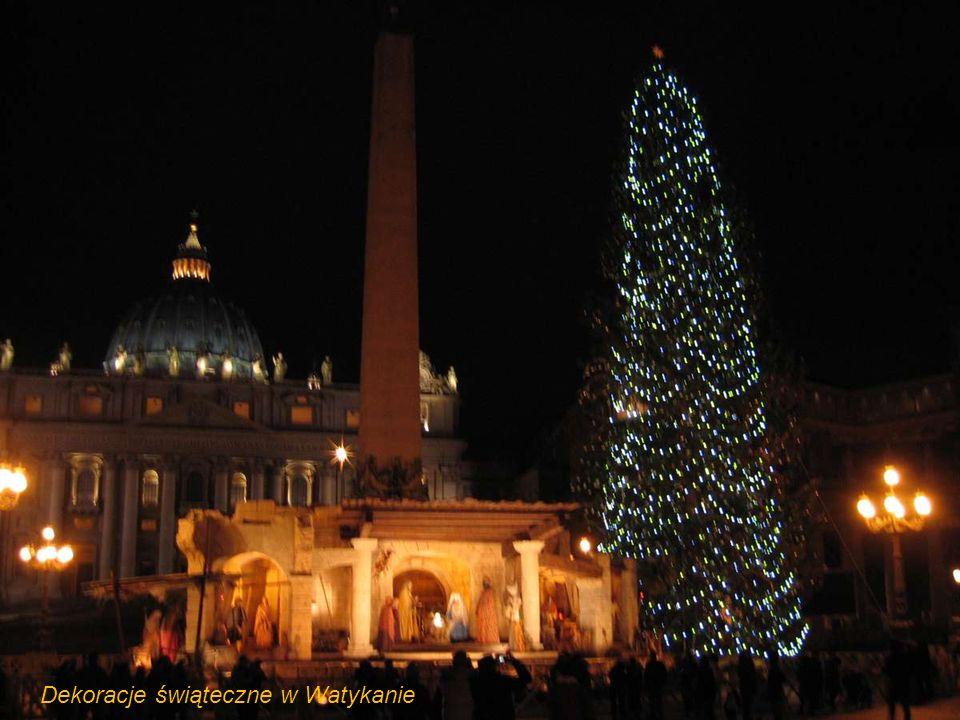 Dekoracje świąteczne w Watykanie