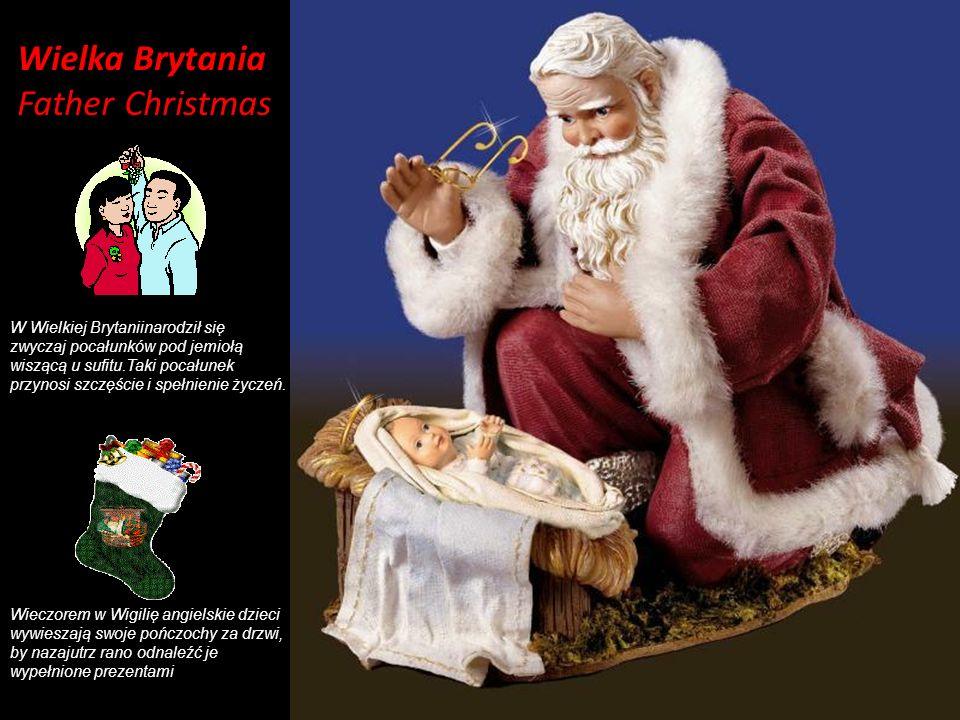 Wielka Brytania Father Christmas W Wielkiej Brytaniinarodził się