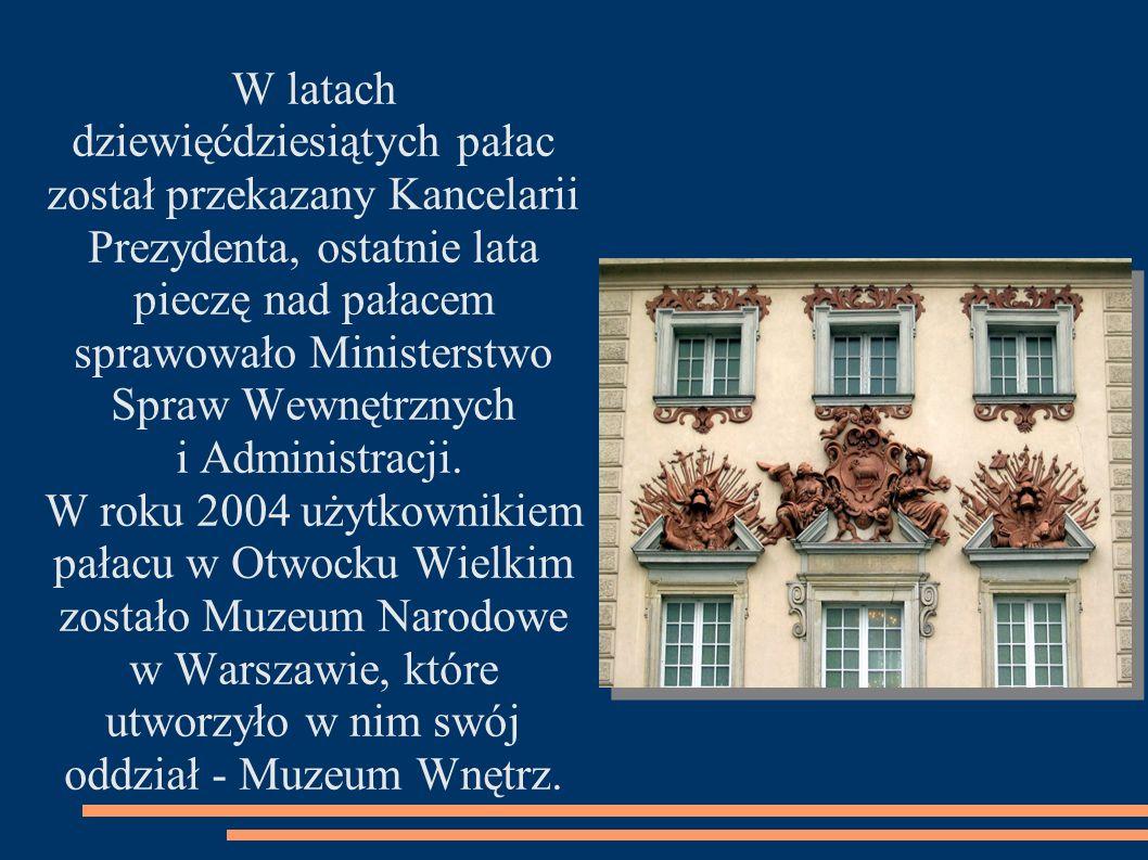 dziewięćdziesiątych pałac został przekazany Kancelarii