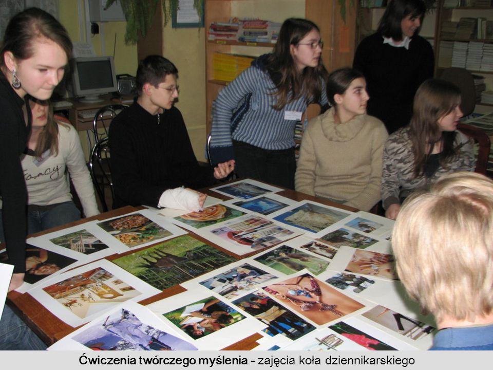 Ćwiczenia twórczego myślenia - zajęcia koła dziennikarskiego