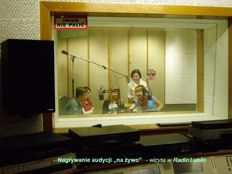 """Nagrywanie audycji """"na żywo - wizyta w Radio Lublin"""
