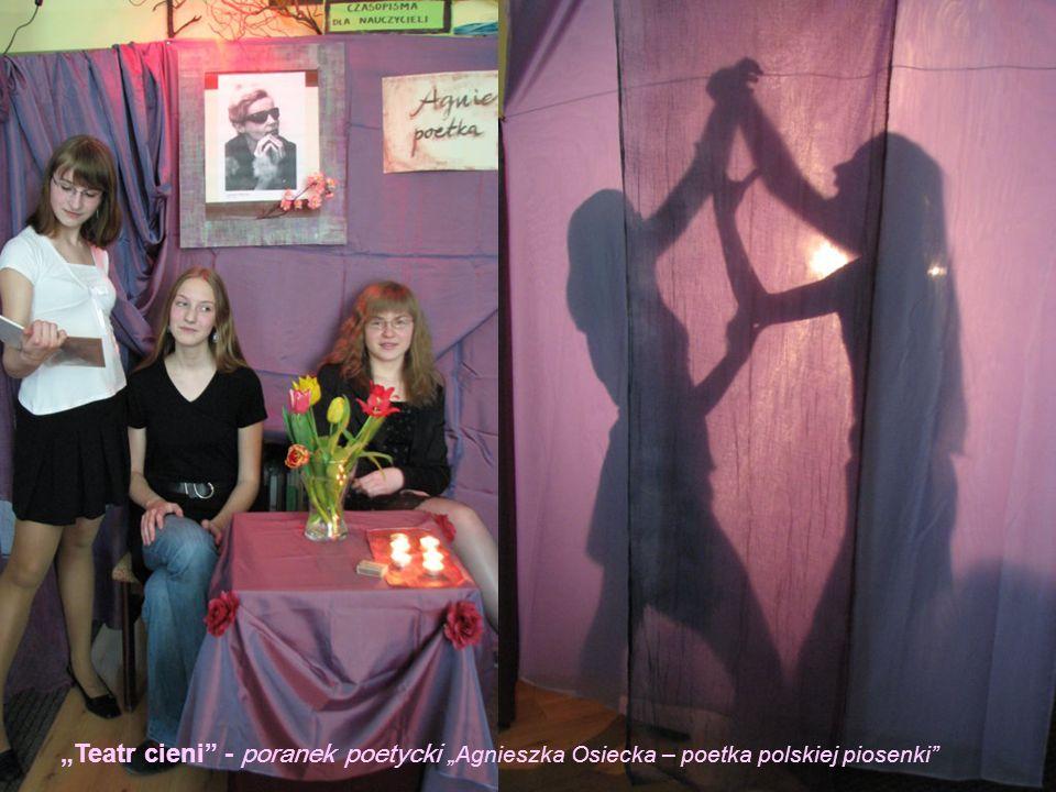 """""""Teatr cieni - poranek poetycki """"Agnieszka Osiecka – poetka polskiej piosenki"""