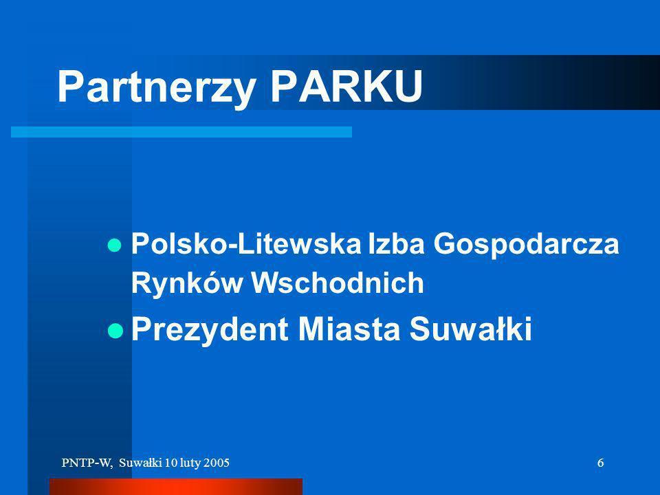 Partnerzy PARKU Prezydent Miasta Suwałki
