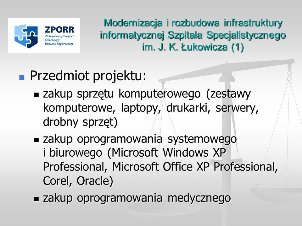 Modernizacja i rozbudowa infrastruktury informatycznej Szpitala Specjalistycznego im. J. K. Łukowicza (1)