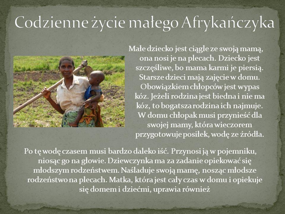 Codzienne życie małego Afrykańczyka