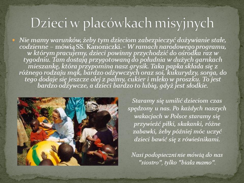 Dzieci w placówkach misyjnych
