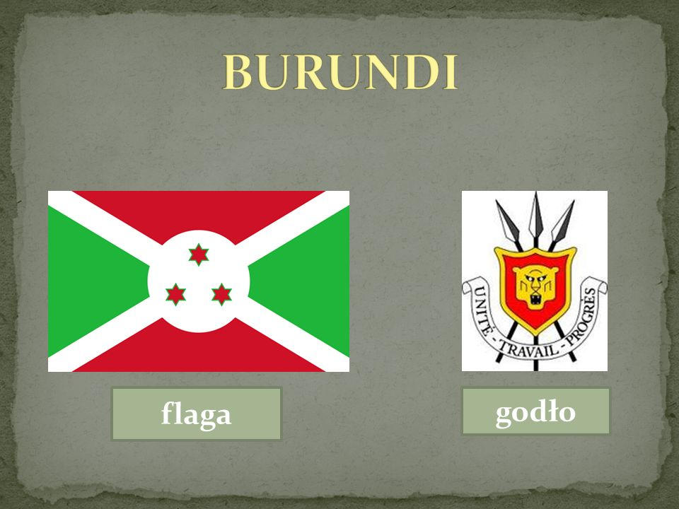 BURUNDI flaga godło