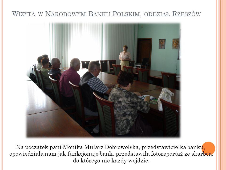 Wizyta w Narodowym Banku Polskim, oddział Rzeszów