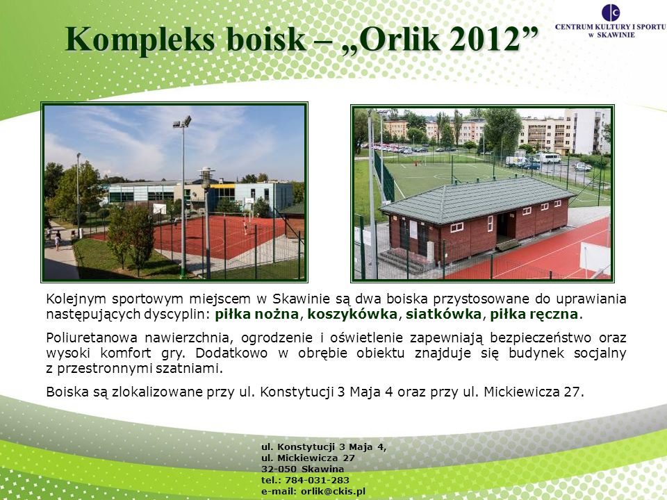 "Kompleks boisk – ""Orlik 2012"