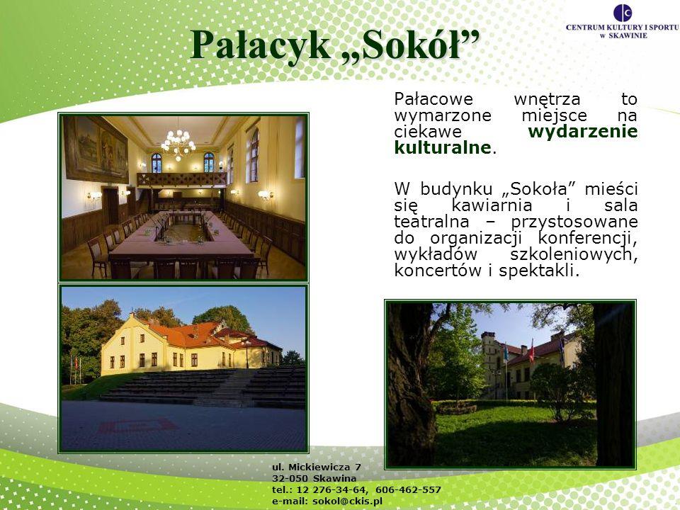 """Pałacyk """"Sokół Pałacowe wnętrza to wymarzone miejsce na ciekawe wydarzenie kulturalne."""