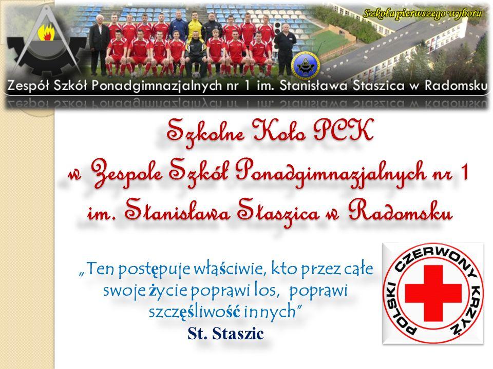 Szkolne Koło PCK w Zespole Szkół Ponadgimnazjalnych nr 1 im