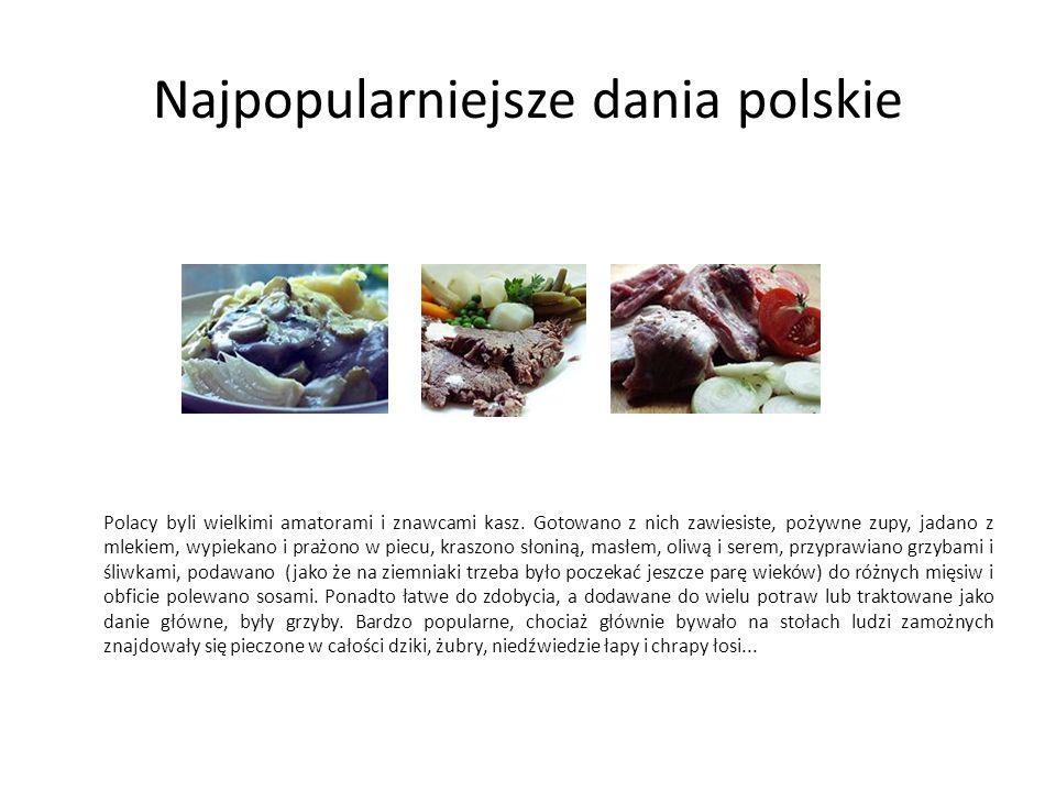 Najpopularniejsze dania polskie