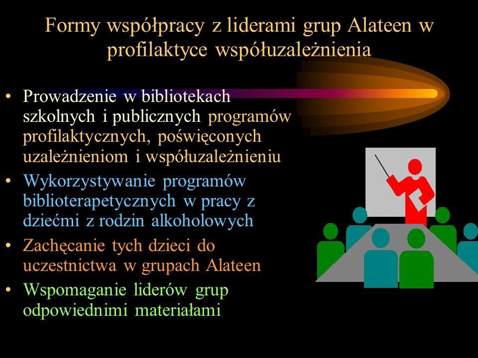 Formy współpracy z liderami grup Alateen w profilaktyce współuzależnienia