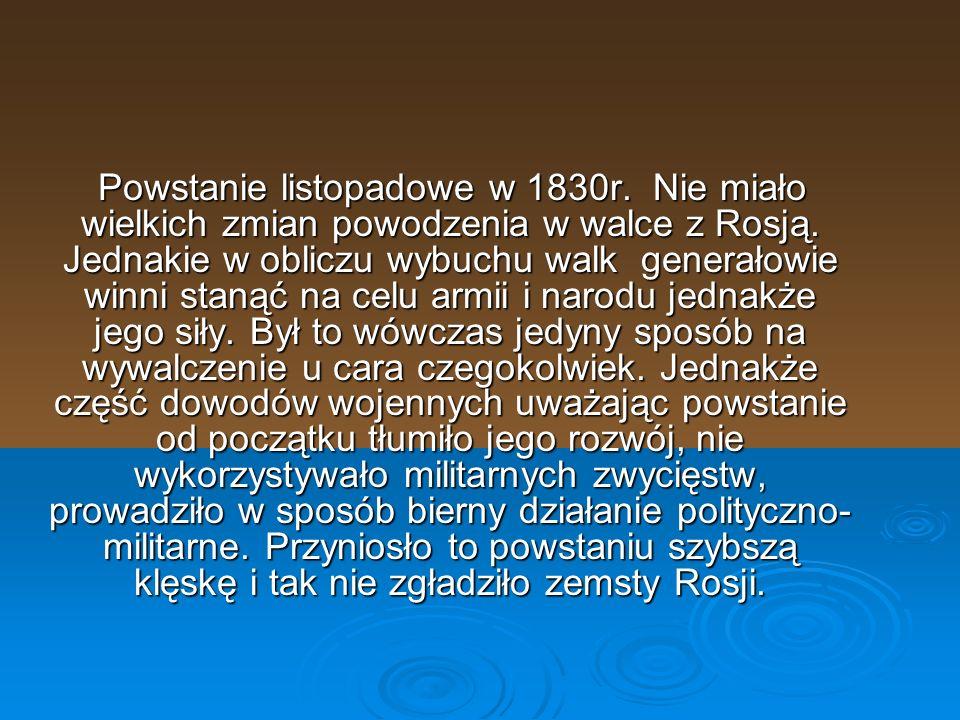 Powstanie listopadowe w 1830r