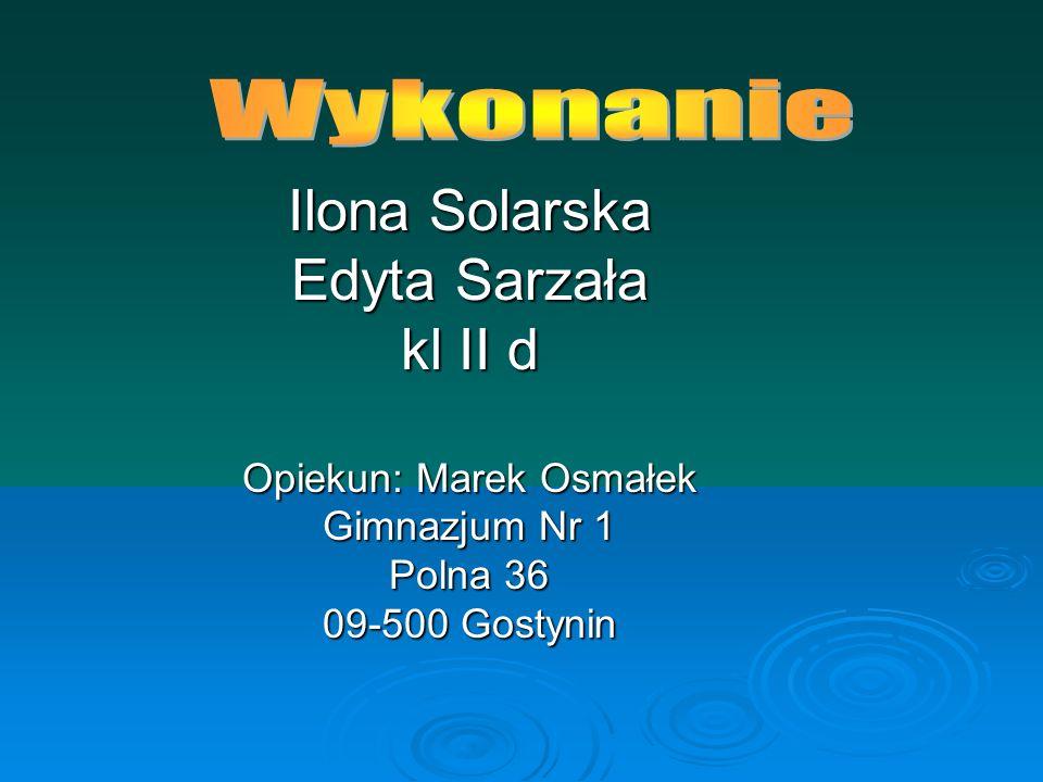 Opiekun: Marek Osmałek