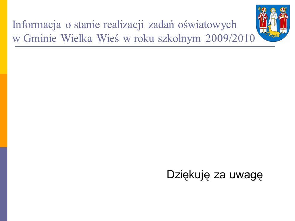 Informacja o stanie realizacji zadań oświatowych w Gminie Wielka Wieś w roku szkolnym 2009/2010