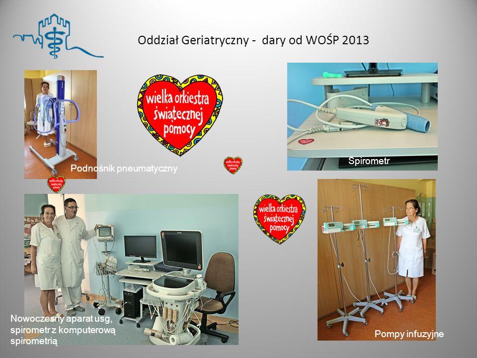 Oddział Geriatryczny - dary od WOŚP 2013