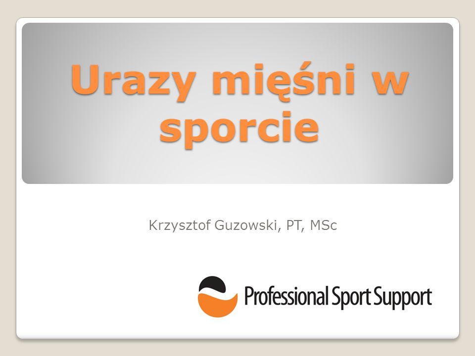 Krzysztof Guzowski, PT, MSc