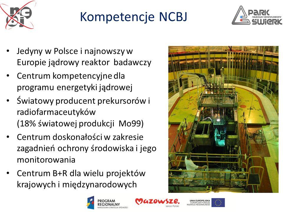 Kompetencje NCBJ Jedyny w Polsce i najnowszy w Europie jądrowy reaktor badawczy. Centrum kompetencyjne dla programu energetyki jądrowej.