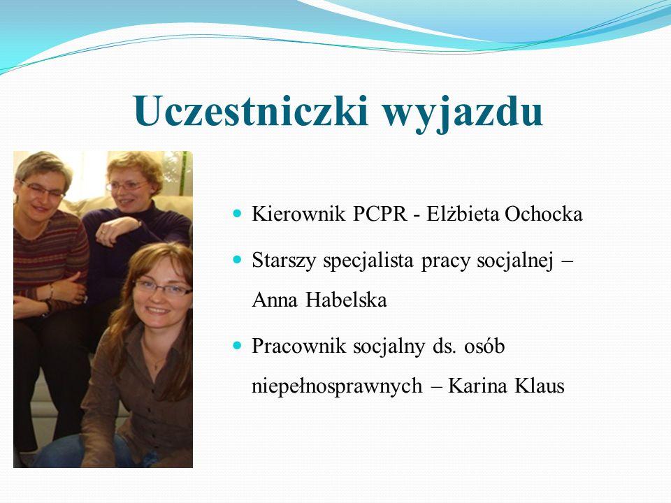 Uczestniczki wyjazdu Kierownik PCPR - Elżbieta Ochocka