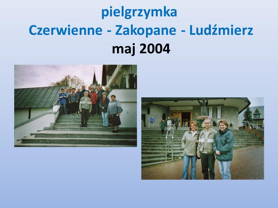 pielgrzymka Czerwienne - Zakopane - Ludźmierz maj 2004