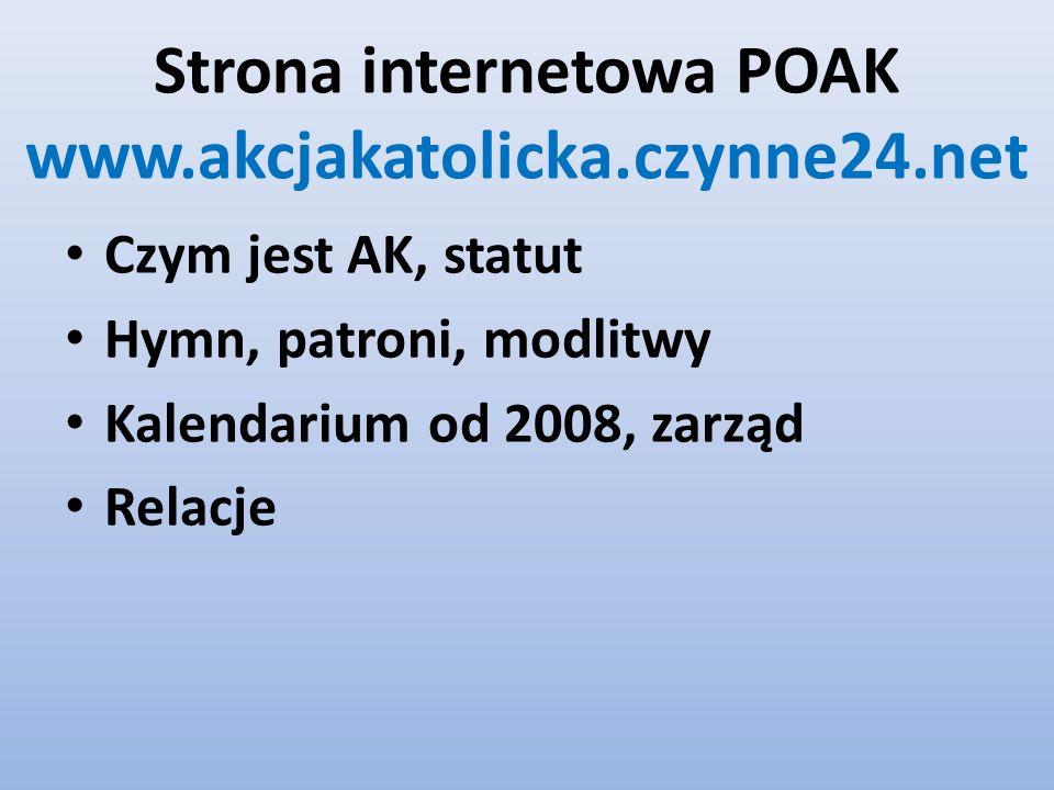 Strona internetowa POAK www.akcjakatolicka.czynne24.net