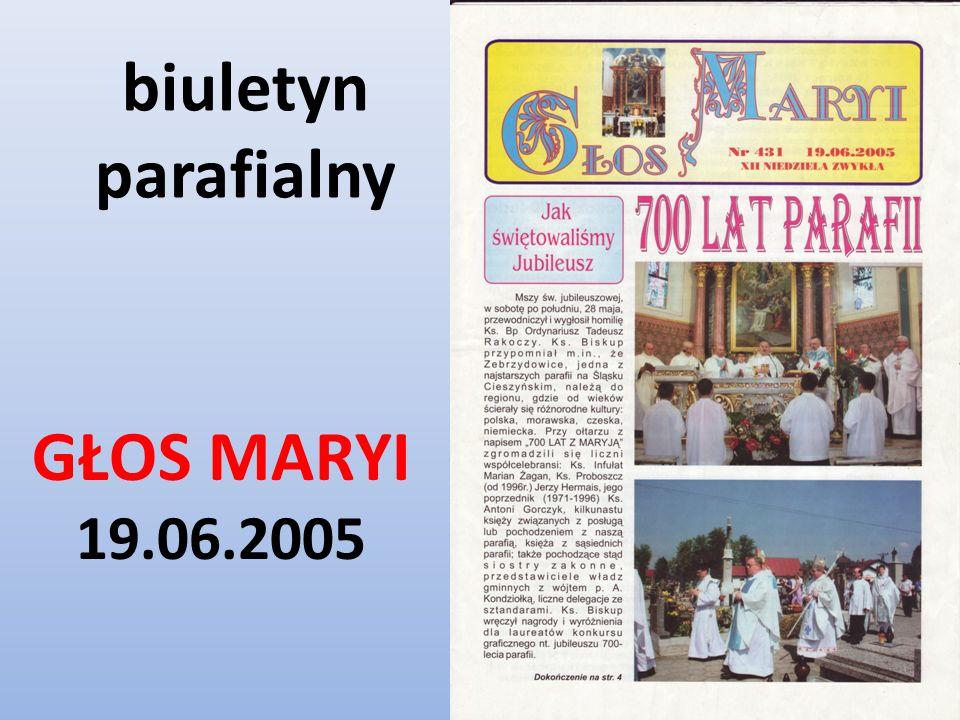 biuletyn parafialny GŁOS MARYI 19.06.2005