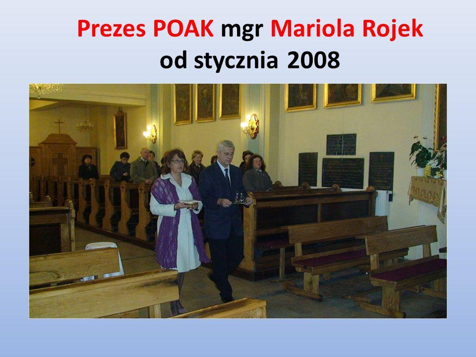 Prezes POAK mgr Mariola Rojek od stycznia 2008