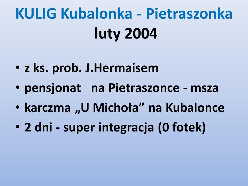KULIG Kubalonka - Pietraszonka luty 2004