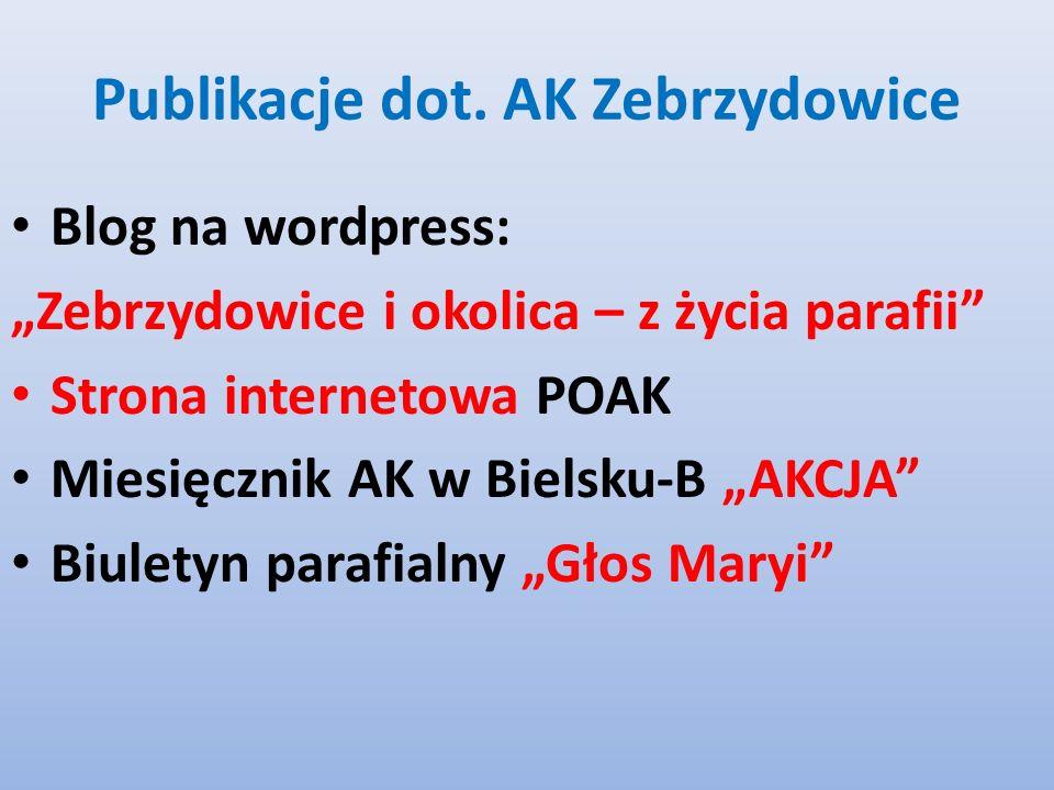 Publikacje dot. AK Zebrzydowice