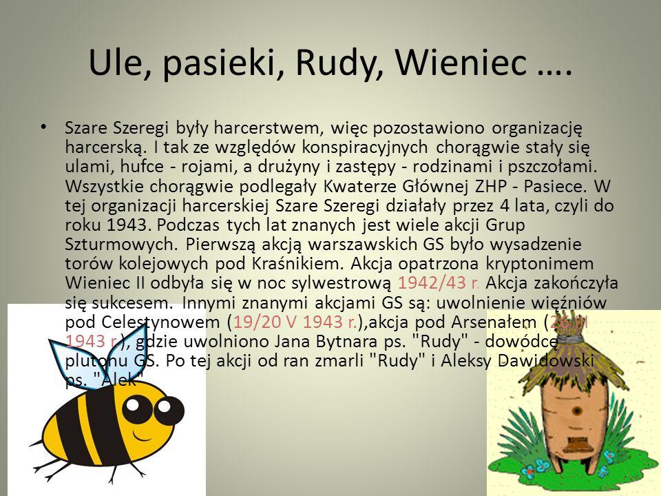 Ule, pasieki, Rudy, Wieniec ….