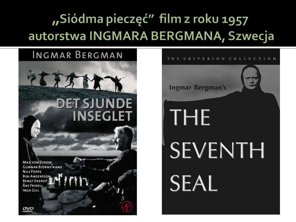 """""""Siódma pieczęć film z roku 1957 autorstwa INGMARA BERGMANA, Szwecja"""
