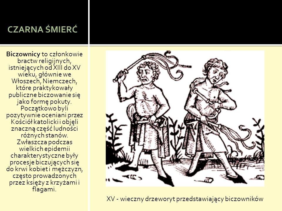 XV - wieczny drzeworyt przedstawiający biczowników