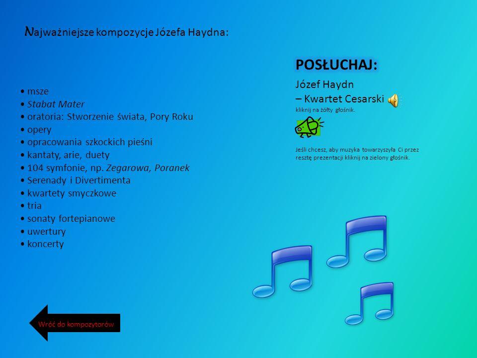POSŁUCHAJ: Najważniejsze kompozycje Józefa Haydna: