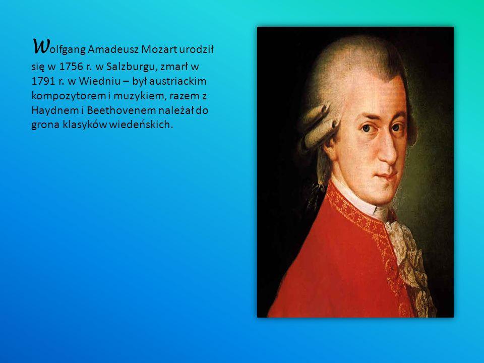 Wolfgang Amadeusz Mozart urodził się w 1756 r