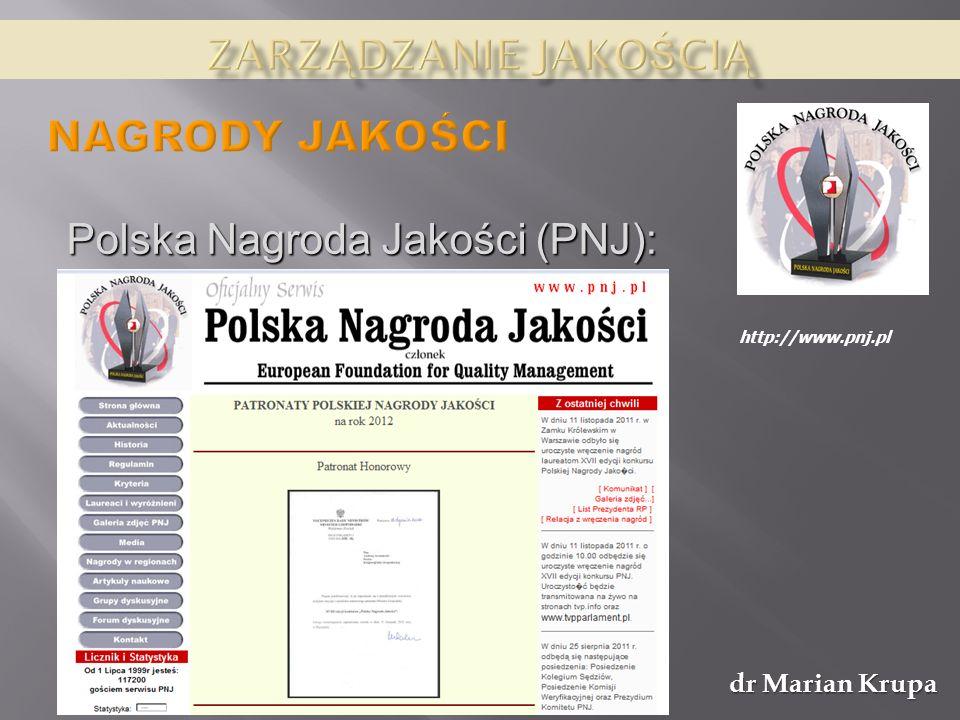 Polska Nagroda Jakości (PNJ):
