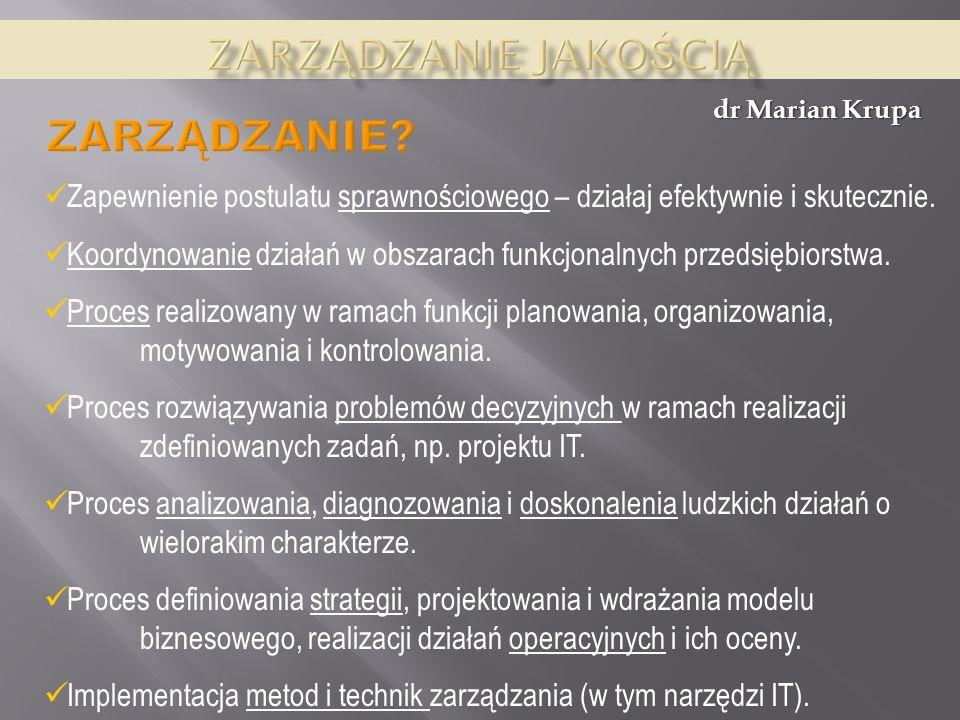 Zarządzanie jakością zarządzanie