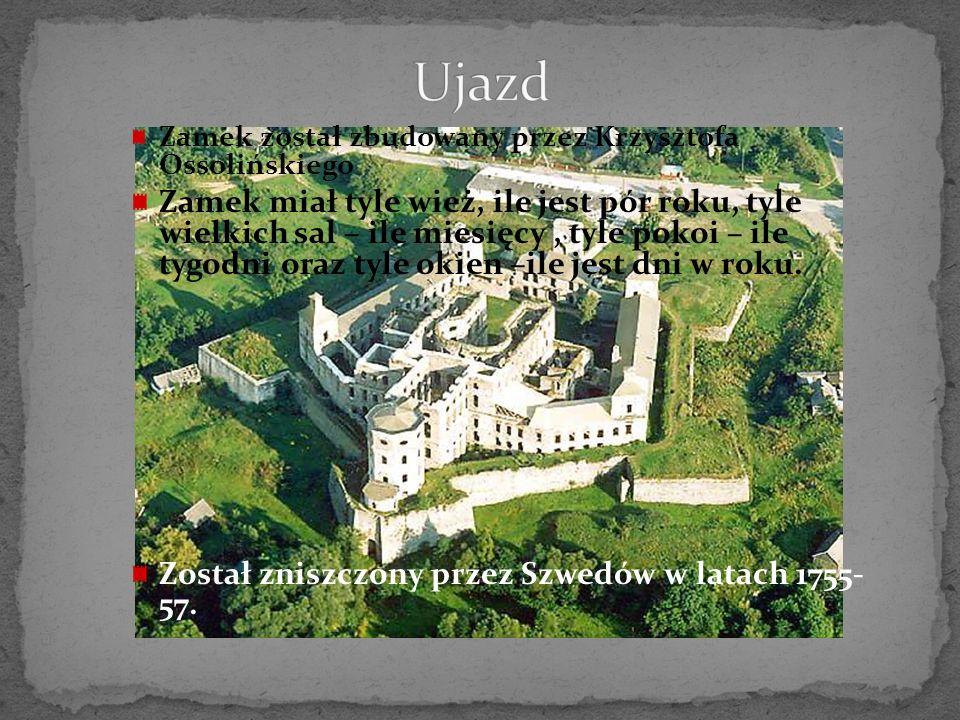 Ujazd Zamek został zbudowany przez Krzysztofa Ossolińskiego.