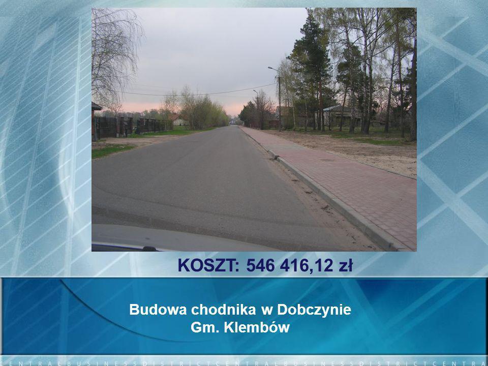 Budowa chodnika w Dobczynie