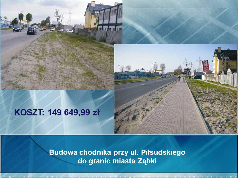Budowa chodnika przy ul. Piłsudskiego