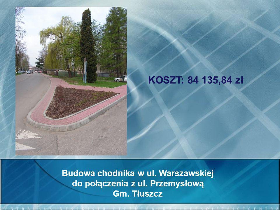 Budowa chodnika w ul. Warszawskiej do połączenia z ul. Przemysłową