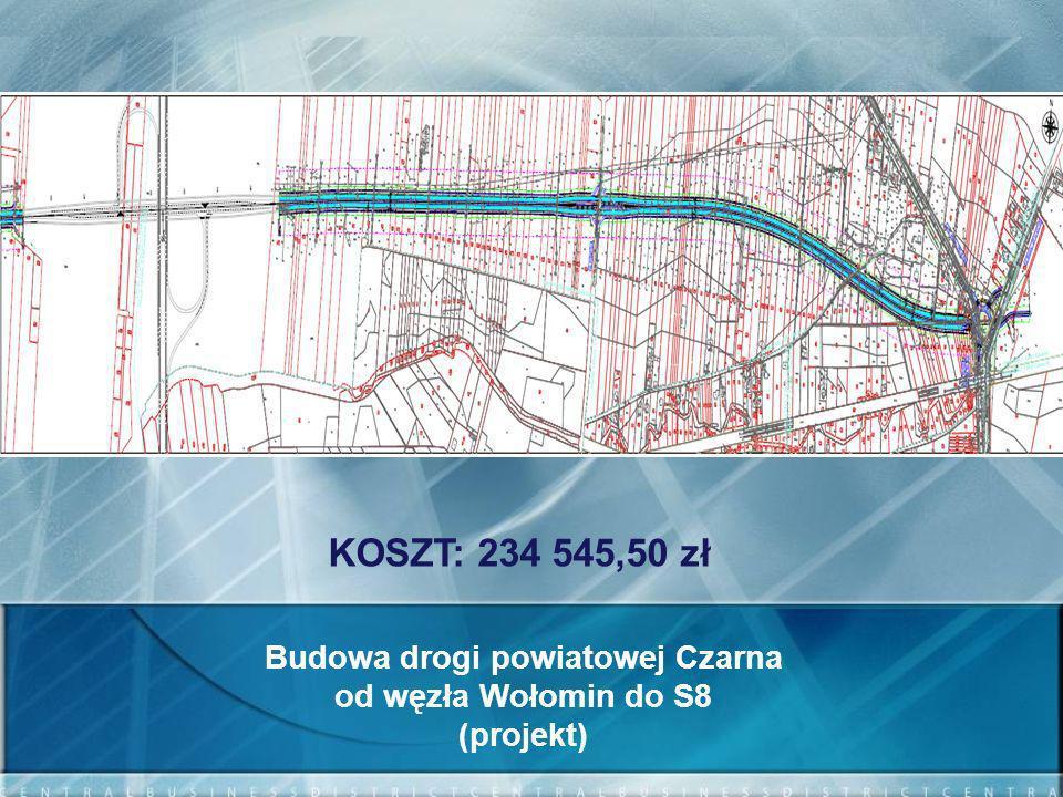 Budowa drogi powiatowej Czarna
