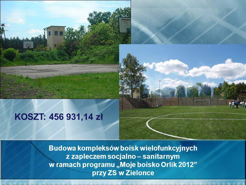 KOSZT: 456 931,14 zł Budowa kompleksów boisk wielofunkcyjnych