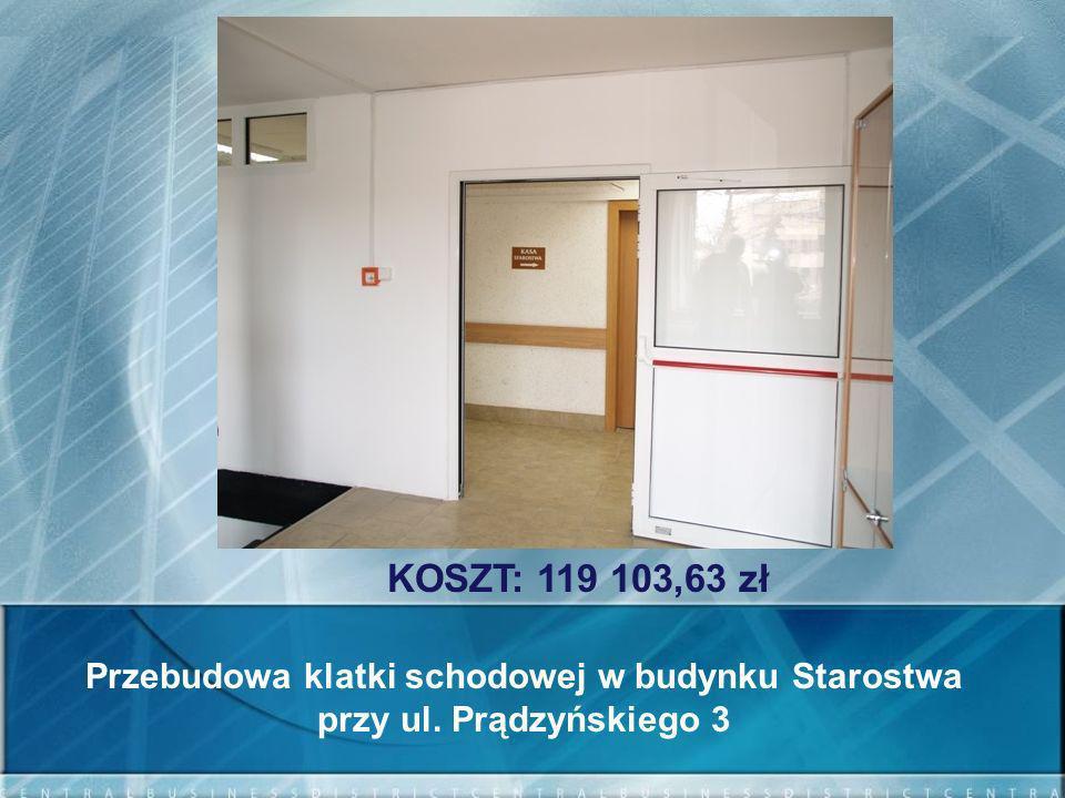 Przebudowa klatki schodowej w budynku Starostwa