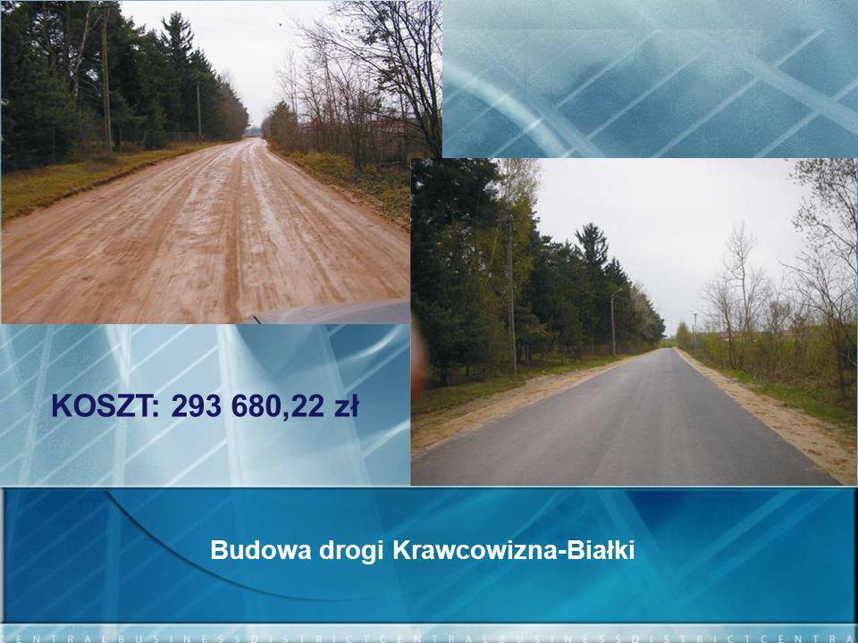 Budowa drogi Krawcowizna-Białki