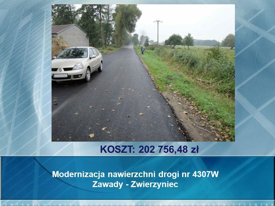 Modernizacja nawierzchni drogi nr 4307W