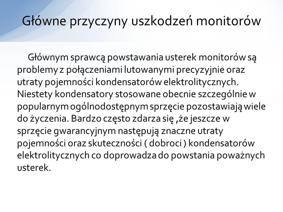 Główne przyczyny uszkodzeń monitorów